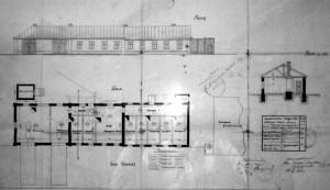 План здания станции СМП, 1929 г.